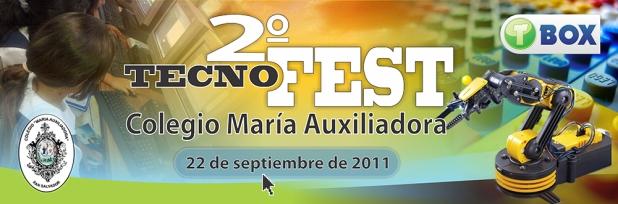 Banner María Auxiliadora San Salvador 2011