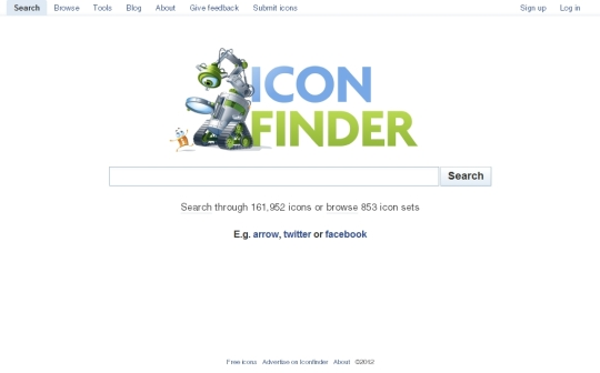 Iconfinder [Pantalla principal]