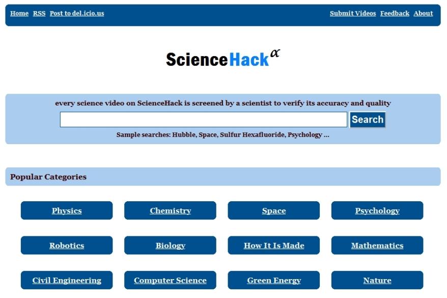 ScienceHack [Pantalla principal]