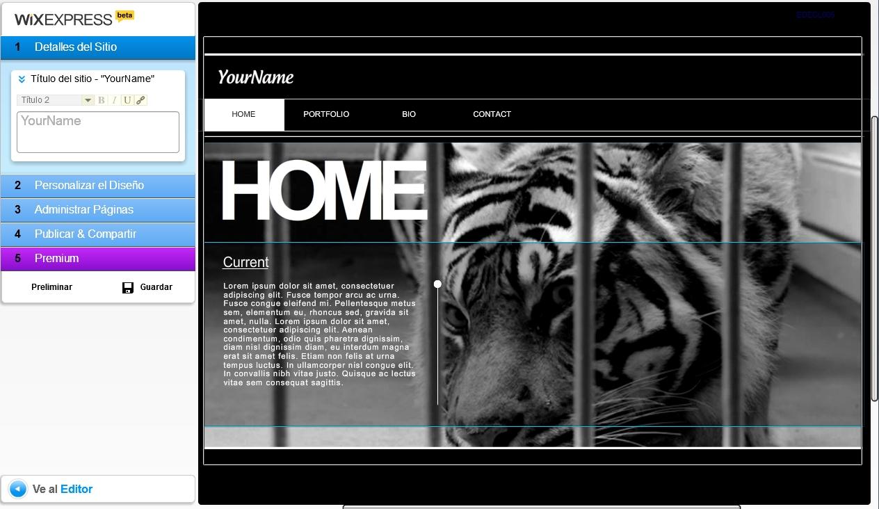 Wix crear p ginas web gratis en flash tecnolog a Crear website