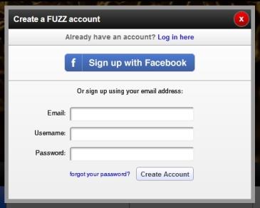 Fuzz [Creación de una cuenta]