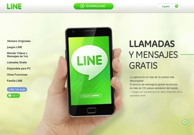 Line [Pantalla principal]