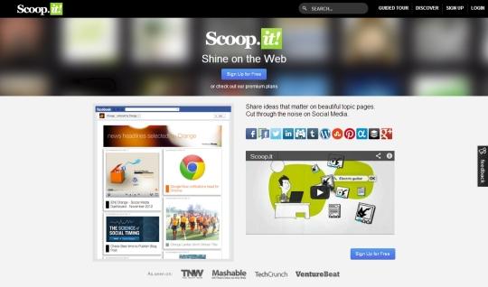 Scoop.it [Pantalla principal]