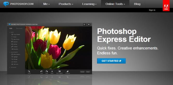 Photoshop Express Editor [Pantalla principal]