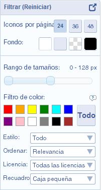 FindIcons [Panel de filtrado]