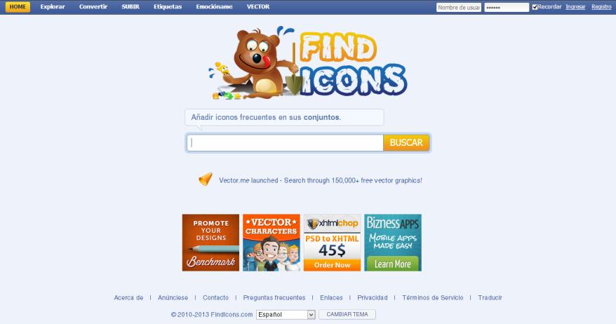 FindIcons [Pantalla principal]