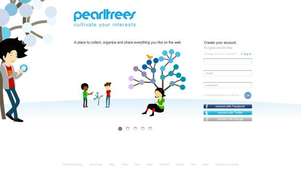 Pearltrees [Pantalla principal]