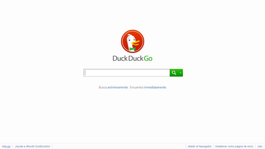 Duckduckgo [Pantalla principal]
