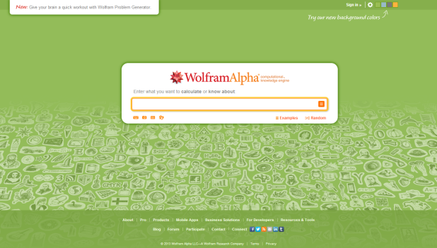 WolframAlpha [Pantalla principal]
