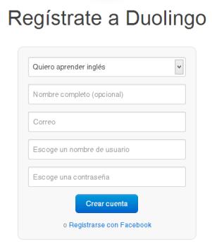 Duolingo [Formulario de inscripción]