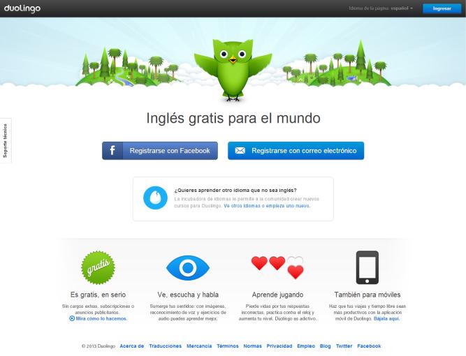 Duolingo [Pantalla principal]