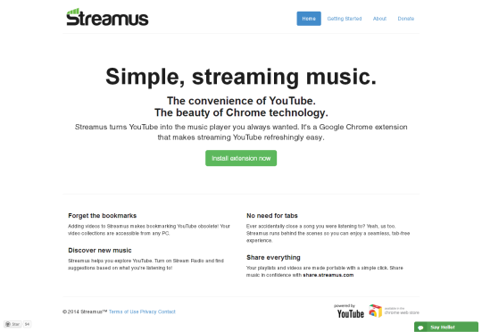 Streamus [Pantalla principal]