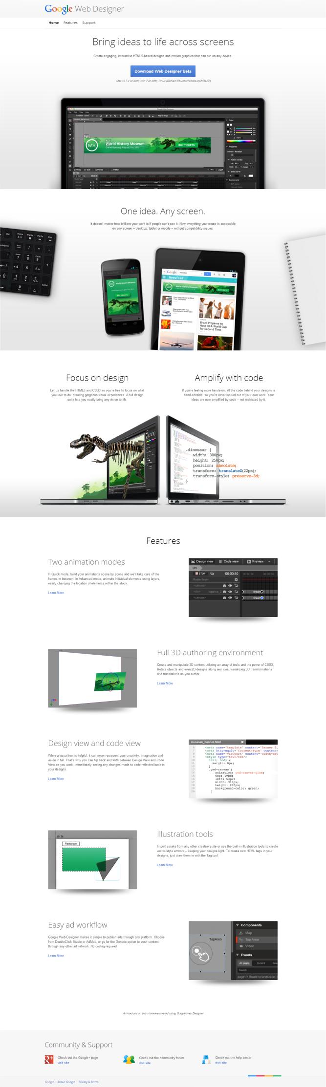 Google Web Designer [Pantalla principal]