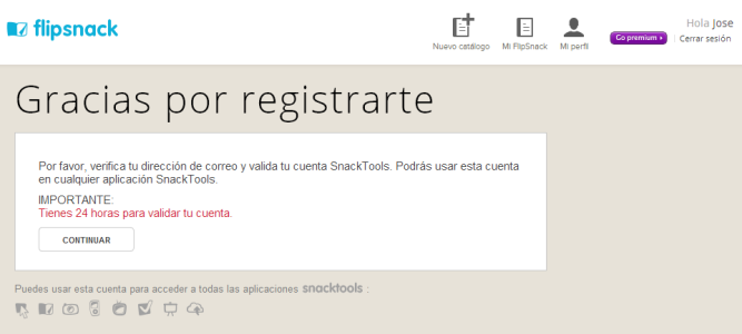 Flipsnack [Confirmación de registro]