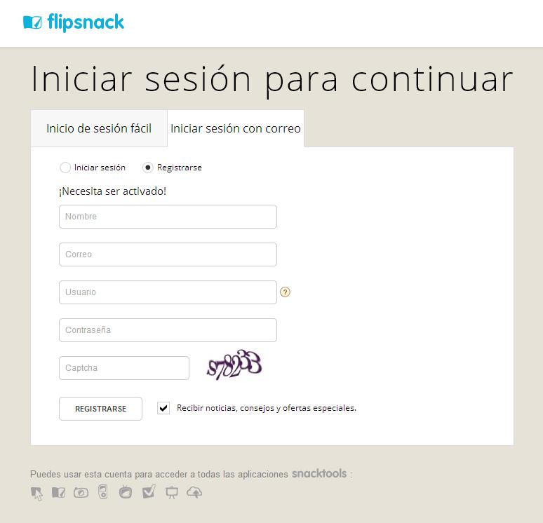 Flipsnack [Formulario de inscripción]