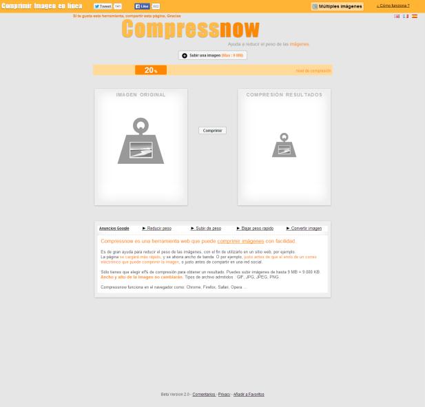 Compressnow [Pantalla principal]
