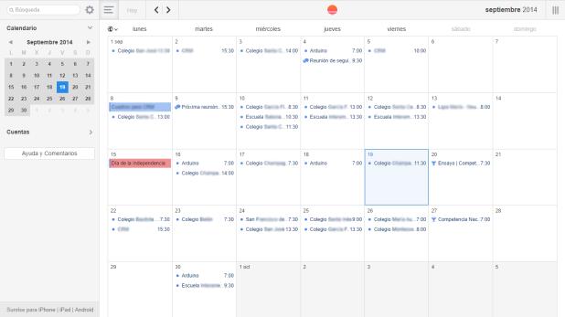Sunrise Calendar [Ejemplo]