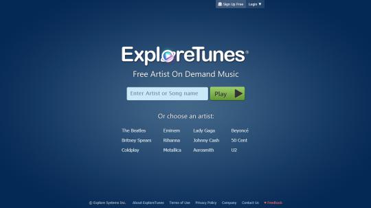ExploreTunes [Página principal]