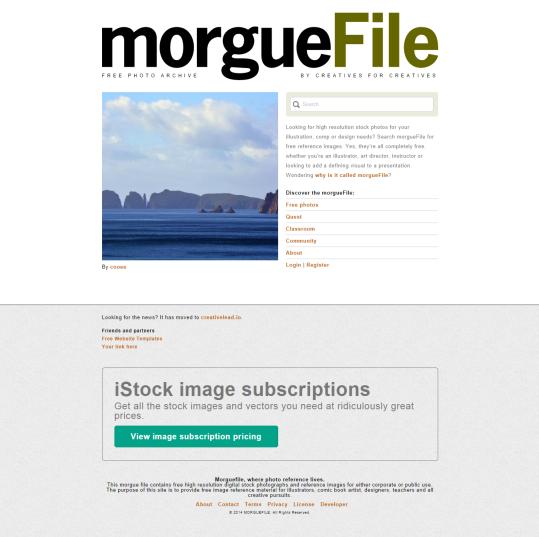 MorgueFile [Pantalla principal]