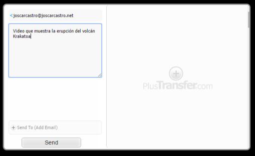 PlusTransfer [Remitente y mensaje]