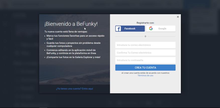 BeFunky [Crear cuenta]